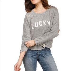 NWOT Lucky Brand Lucky Deconstructed Sweater Sz M